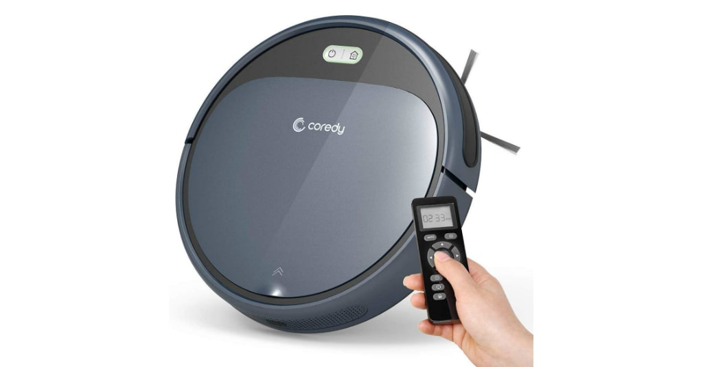 Coredy Robot Vacuum Cleaner, 1400Pa Super-Strong Suction