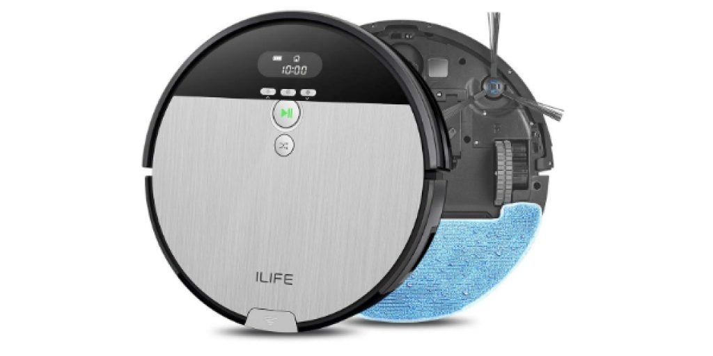ILIFE V8s 2-in-1 Robotic Vacuum Cleaner and Mopping 750ml Big Dustbin