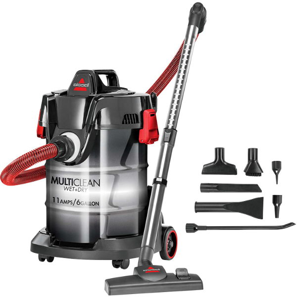 Bissell, Red, MultiClean Wet Dry Garage and Auto Vacuum Cleaner, 2035M