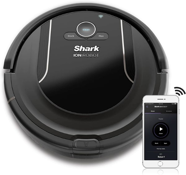 SHARK-ION-Robot-Vacuum-R85-WiFi-Connected-with-Powerful-Suction-XL-Dust-Bin-Self-Cleaning-Brushroll-and-Voice-Control-with-Alexa-or-Google-Assistant-RV850