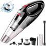 Handheld Vacuum, Cordless Handle Vacuum Cleaner with USB Charging Cable, 100V/240V Charge Adapter, Waterwashable Steel Filter, 120W 7000pa Powerful Wireless..